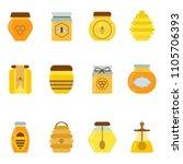 organic honey jars set. natural ...   Shutterstock .eps vector #1105706393
