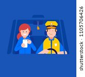 booking taxi online service... | Shutterstock .eps vector #1105706426