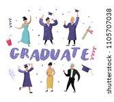 university graduate happy... | Shutterstock .eps vector #1105707038