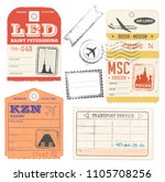 vector illustration travel... | Shutterstock .eps vector #1105708256
