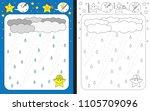 preschool worksheet for... | Shutterstock .eps vector #1105709096