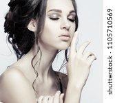 closeup portrait of sexy... | Shutterstock . vector #1105710569