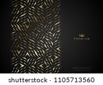 geometric vip golden greeting... | Shutterstock .eps vector #1105713560