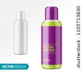 plastic cosmetic bottle with... | Shutterstock .eps vector #1105713830