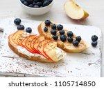 healthy breakfast with sweet... | Shutterstock . vector #1105714850