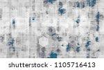 futuristic matrix cyberspace... | Shutterstock .eps vector #1105716413