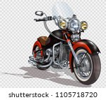 classic vintage motorcycle. | Shutterstock .eps vector #1105718720