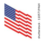 american flag isolated on white | Shutterstock .eps vector #1105719464