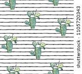 vector illustration. cactus.... | Shutterstock .eps vector #1105720343