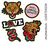 fashion design print of patch... | Shutterstock .eps vector #1105724234
