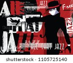 jazz music  poster background... | Shutterstock .eps vector #1105725140