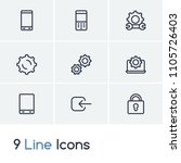 gadget icon set and log in with ...