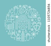 spa center banner illustration... | Shutterstock .eps vector #1105726856