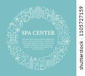 spa center banner illustration... | Shutterstock .eps vector #1105727159