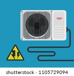 air conditioner vector design 5 | Shutterstock .eps vector #1105729094