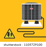 air conditioner vector design 1 | Shutterstock .eps vector #1105729100