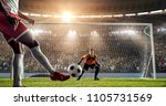 soccer player is trying to... | Shutterstock . vector #1105731569
