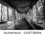old abandoned sanatorium | Shutterstock . vector #1105738046