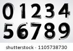 scribble numbers design. grunge ... | Shutterstock .eps vector #1105738730