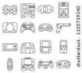set of line icons  retro and...   Shutterstock .eps vector #1105739240