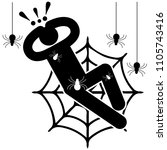 arachnophobia. fear of spiders. ...   Shutterstock .eps vector #1105743416