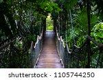 hanging bridge at caleruega... | Shutterstock . vector #1105744250