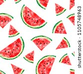 seamless pattern with slices of ... | Shutterstock .eps vector #1105748963