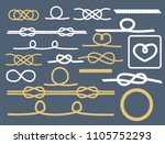 rope knots collection... | Shutterstock .eps vector #1105752293