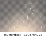 flame of fire with sparks on a... | Shutterstock .eps vector #1105754726