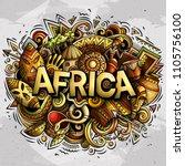 cartoon cute doodles africa... | Shutterstock .eps vector #1105756100