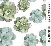 vector spring flower seamless... | Shutterstock .eps vector #1105758293