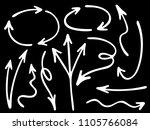 hand drawn diagram arrow icons... | Shutterstock .eps vector #1105766084