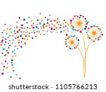 pink blue yellow vector... | Shutterstock .eps vector #1105766213