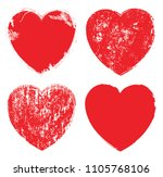set of hearts . grunge stamps... | Shutterstock .eps vector #1105768106