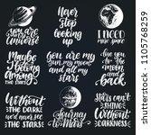 vector set of hand lettering... | Shutterstock .eps vector #1105768259