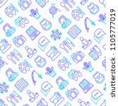 hobby seamless pattern with... | Shutterstock .eps vector #1105777019