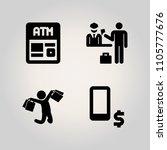 family icon set. smart  atm ... | Shutterstock .eps vector #1105777676