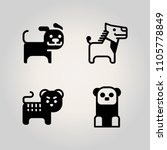 animals icon set. baby  pet ... | Shutterstock .eps vector #1105778849