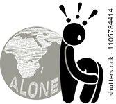 autophobia. monophobia.... | Shutterstock .eps vector #1105784414
