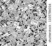 cartoon cute doodles hand drawn ... | Shutterstock .eps vector #1105786016