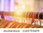 close up of clothes rack with... | Shutterstock . vector #1105793699