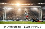 soccer player is celebrating... | Shutterstock . vector #1105794473