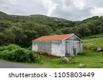 a delapidated and old... | Shutterstock . vector #1105803449