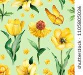 watercolor illustrations of...   Shutterstock . vector #1105805036