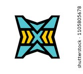 sign of the letter x | Shutterstock . vector #1105805678