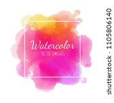 vector watercolor background.... | Shutterstock .eps vector #1105806140