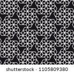 vector seamless pattern. modern ... | Shutterstock .eps vector #1105809380