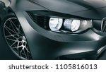 black sports car. high angle... | Shutterstock . vector #1105816013