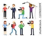 set characters of broadcasting  ... | Shutterstock .eps vector #1105833599