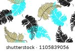Floral Seamless Pattern  Hand...